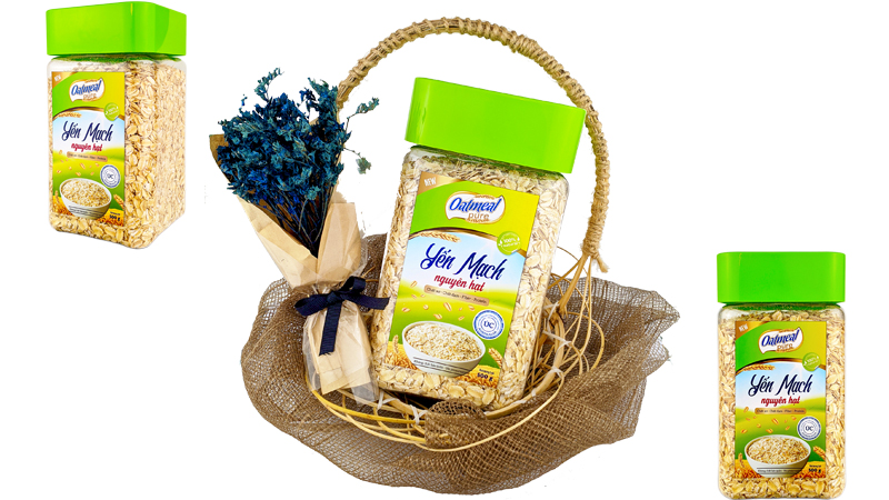 yến mạch cán dẹt oatmeal pure 500g