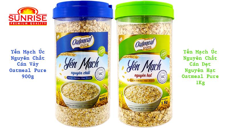 yến mạch úc oatmeal pure