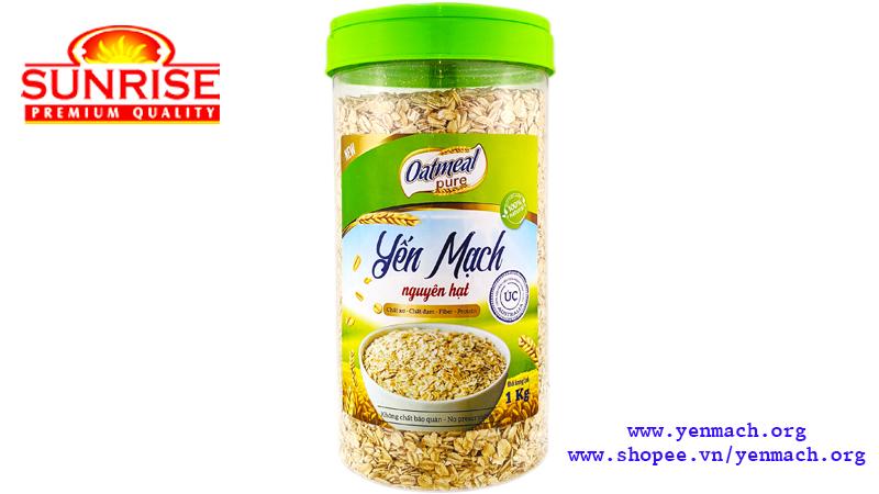 yến mạch cán dẹt nguyên hạt oatmeal pure