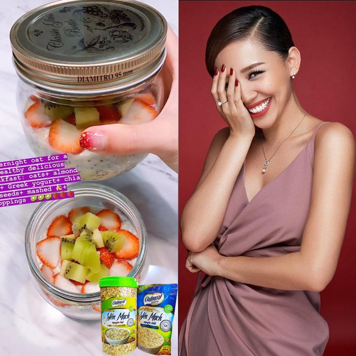 yến mạch và sao việt Yến mạch trong bữa sáng của Sao Việt