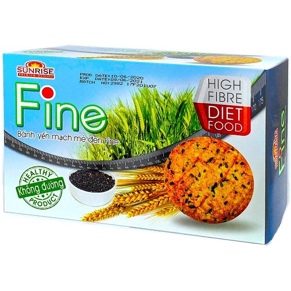 Bánh ăn kiêng yến mạch mè đen FINE
