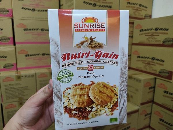 Bánh ăn kiêng yến mạch gạo lứt Sunrise